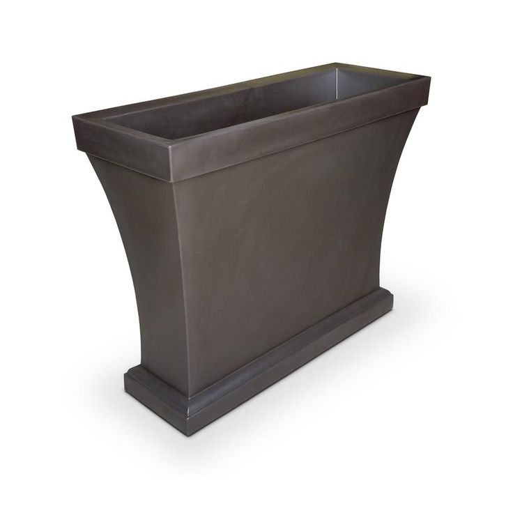 Bordeaux 40 in. Espresso (Brown) Plastic Trough Planter