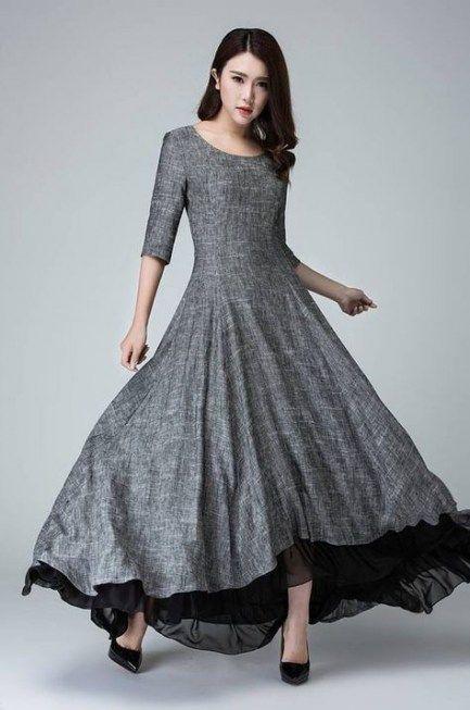 62+ Trendy Dress Elegant Prom Skirts | Linen dress women ...
