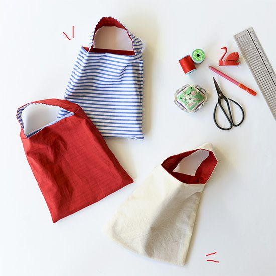 How to saw small bags