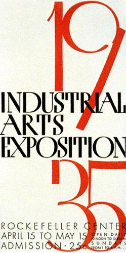 Industrial Arts Expo 1935 - Paul Rand