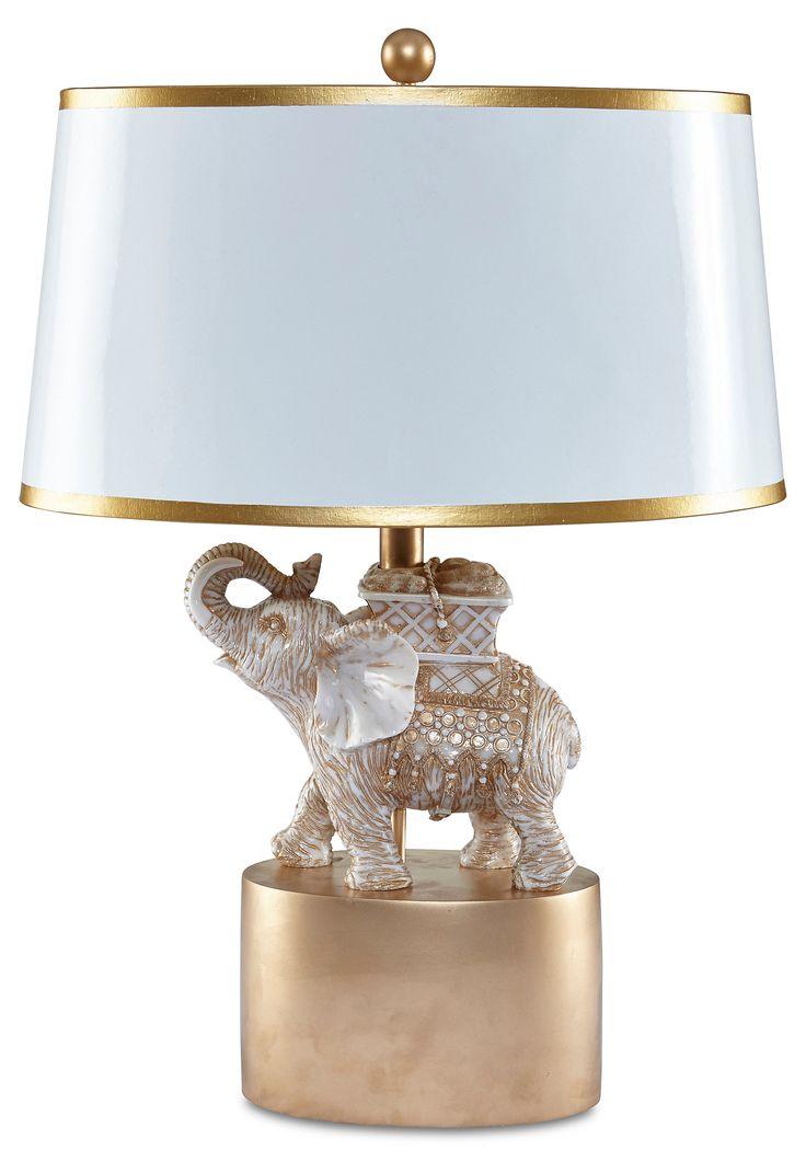 Stacked elephant lamp - India Elephant Table Lamp Gold Leaf