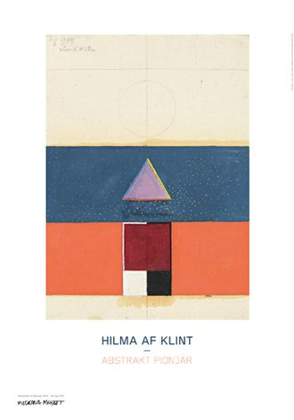 Swedish artist Hilma af Klint, now receiving recognition as the first abstract artist before Kandinski.