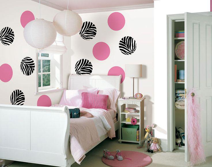 Camerette per ragazzi con pareti decorate n.11