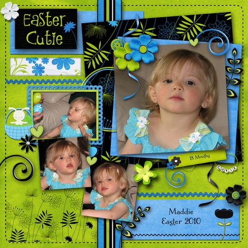 Easter Cutie, layout by pawprints