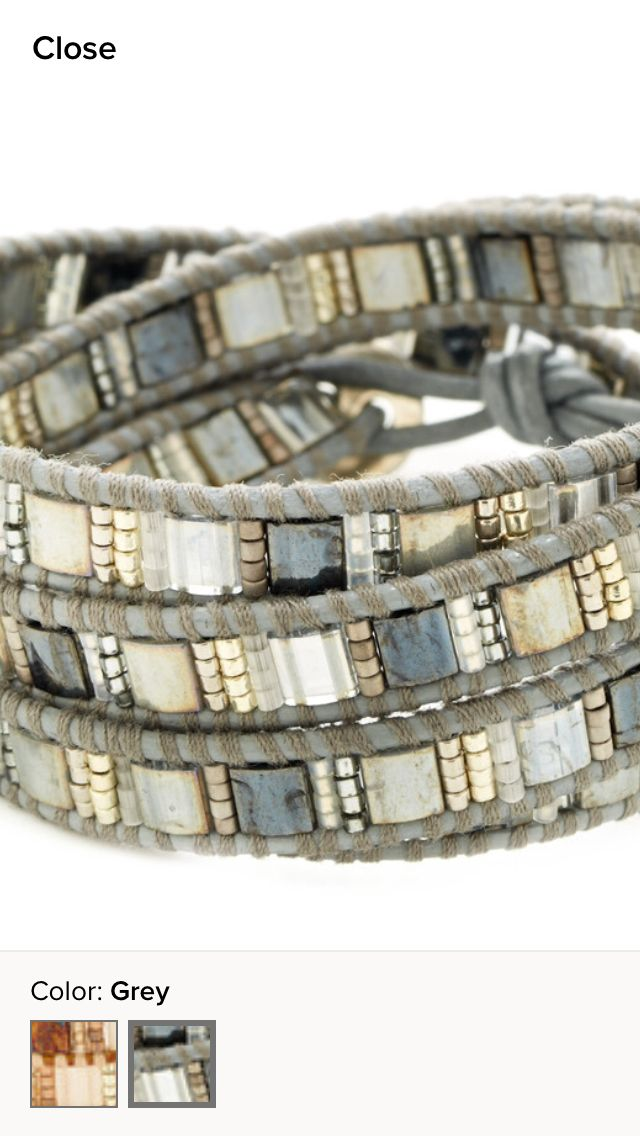 more futuristic/ tech looking bracelet, while still inspirational grey tones Chan Luu bracelet