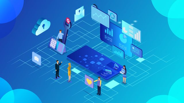 2 5d Business Office Data Convenient Technology Stereo Illustration Illustration Image On Pngtree Free Download On Pngtree Graphic Design Background Templates Isometric Design Background Templates