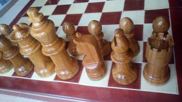 Brettspiele - Großen handgemachte Kirsch Holz Schachfiguren - ein Designerstück von HandgefertigteSchach bei DaWanda