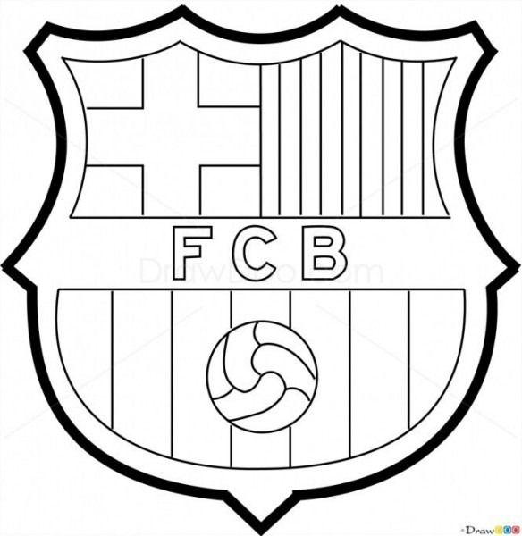 Dibujos Para Colorear Escudos De Futbol Escudo Barça Futbol Para Colorear Escudo