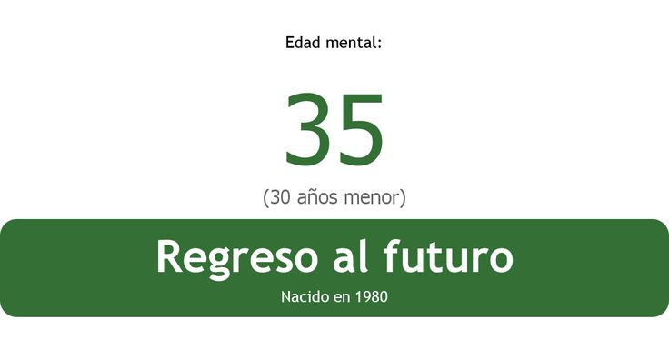Mi edad mental es 35 - ¿Y la tuya?http://www.arealme.com/mental/es/