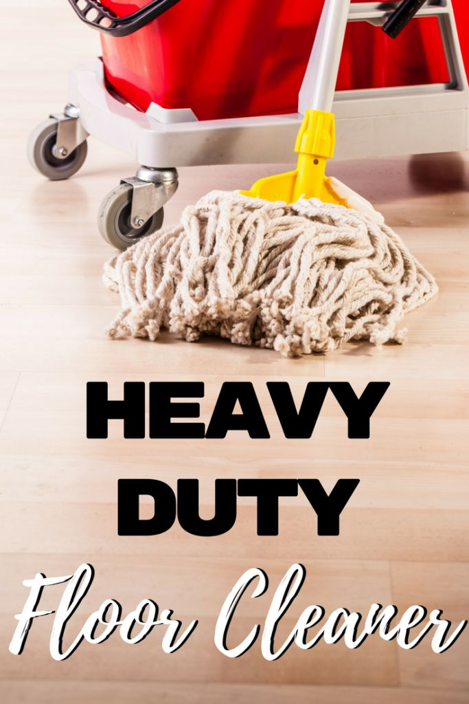 "Get those grimy floors clean with this heavy duty floor cleaner! It works great on tile floors and is perfect for getting rid of the ""boy bathroom"" smell!"