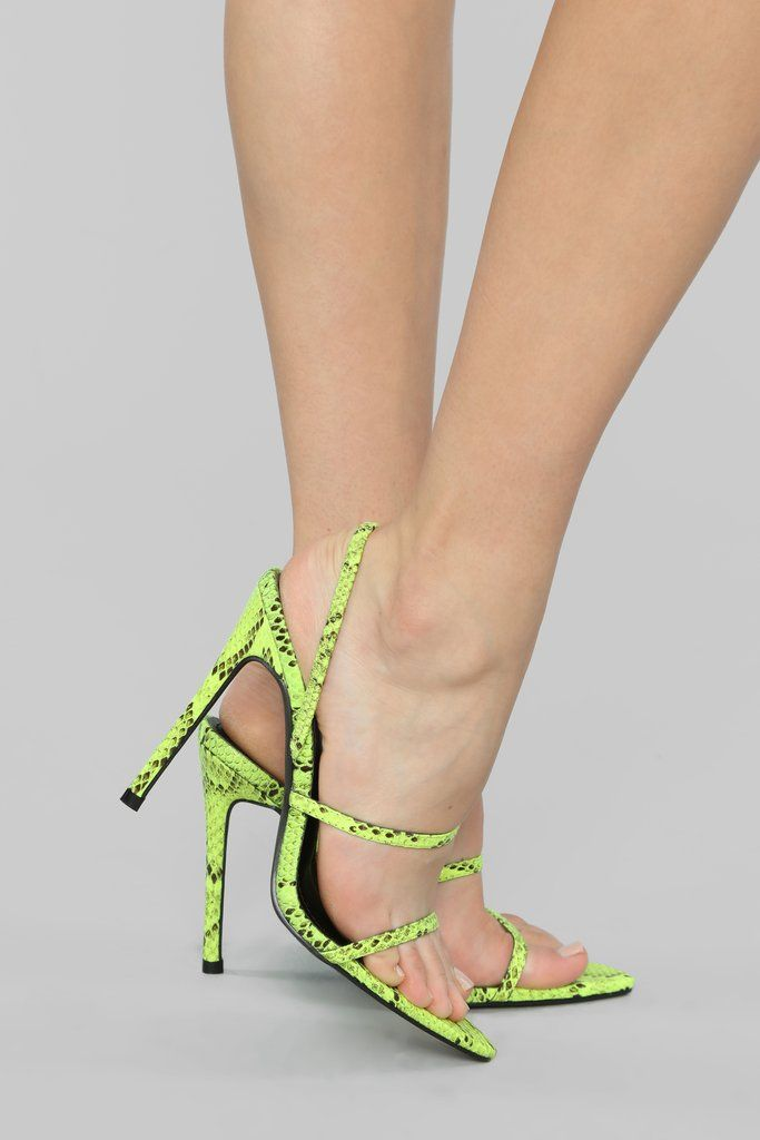 d43723e4f9e Reserved Heeled Sandals - Neon Yellow in 2019