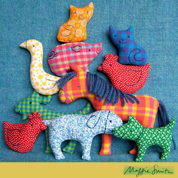 Adorable Farm Animals Sewing Pattern 'Little Softies' by Maggie Smith £11.18