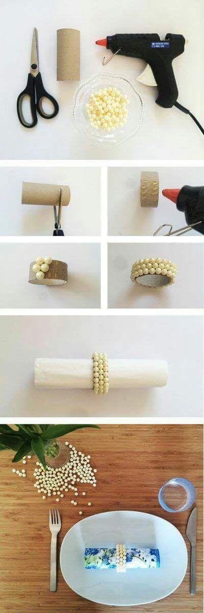 IDEAS DE ANILLOS PARA SERVILLETAS – DIY by artesydisenos.blogspot.com