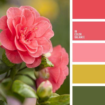 amarillo mostaza, color rosa melocotón, combinación de colores para boda, matices de color rosado, matices de color rosado cálido, rosa pastel, rosado cálido, rosado y verde, rosas rosadas, tonos profundos del rosado, tonos rosa, verde y rosado.