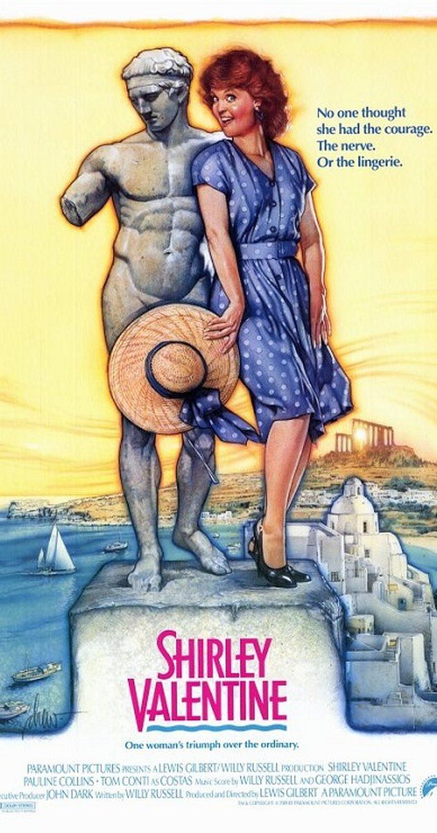 Shirley Valentine (1989) on IMDb: Shirley's a middle-aged Liverpool housewife, who finds herself talking to the wall while she prepares her husband's chip'n'egg, wondering what happene