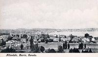 Birdseye View of Allandale (Part of Modern Barrie)