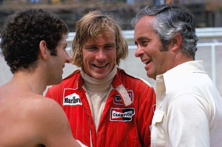Jody Scheckter, James Hunt with Roger Penske