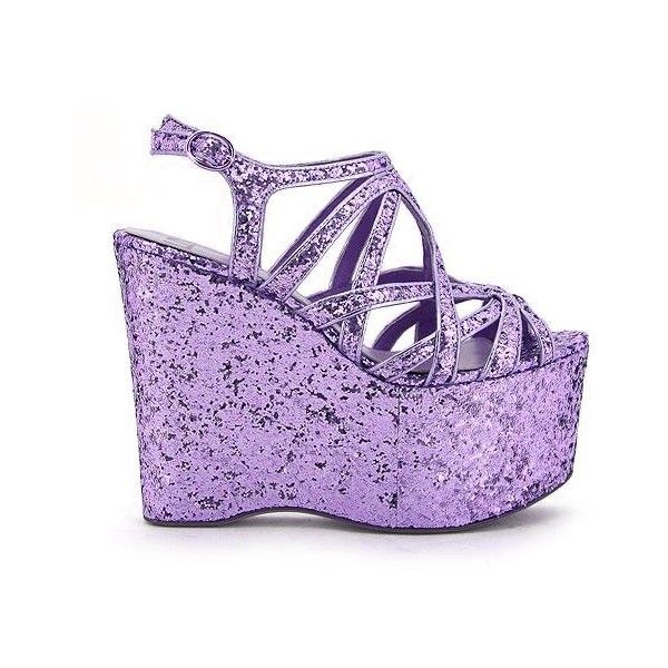 Toxic Mermaid Wardrobe found on Polyvore featuring shoes, sandals, heels, purple, purple heel shoes, purple shoes, purple sandals and heeled sandals