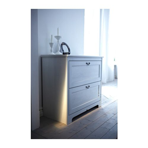 Ikea Utrusta Push Opener Installation ~ ASPELUND Chest with 2 drawers IKEA Smooth running drawers with pull