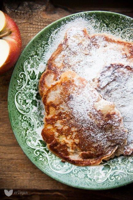 Idealne racuchy z jabłkami – bez jajek   erVegan - kuchnia roślinna