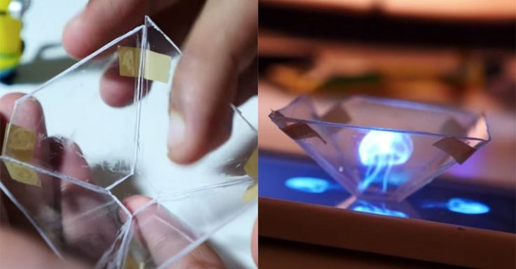 Create a 3D hologram with your smartphone using an old CD case, a knife,a ruler, a pen and paper and some sticky tape.