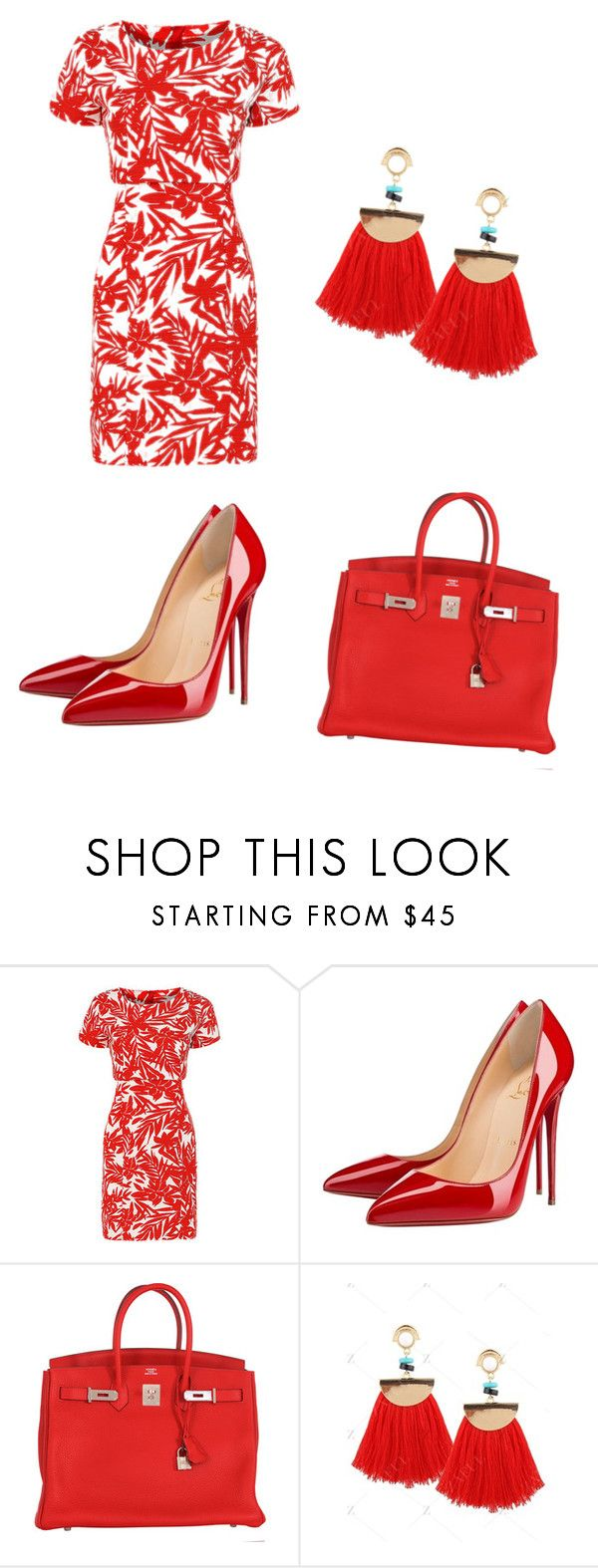 """Untitled #208"" by ioannicoleta ❤ liked on Polyvore featuring Christian Louboutin and Hermès"