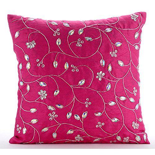 Designer Fuchsia Pink Pillow Covers, Zardozi Leaves Garde... https://www.amazon.com/dp/B016H8WOM0/ref=cm_sw_r_pi_dp_x_I2F-ybT69ET5A