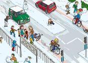 Verkeersles op het digibord: Veilig door het verkeer bij gladheid