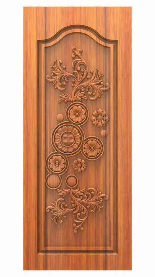 pretty carved pocket door on hvac room