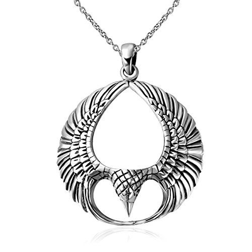 925 Sterling Silver Celtic Fenix Bird Pendent Necklace, 1... This necklace buying guide help you find which styles and features are right for you.  http://diamondproguide.com/choose-necklace-pendant/
