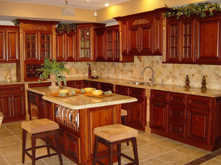 Kitchen Ideas Cherry Cabinets best 25+ rustic cherry cabinets ideas on pinterest | wood cabinets