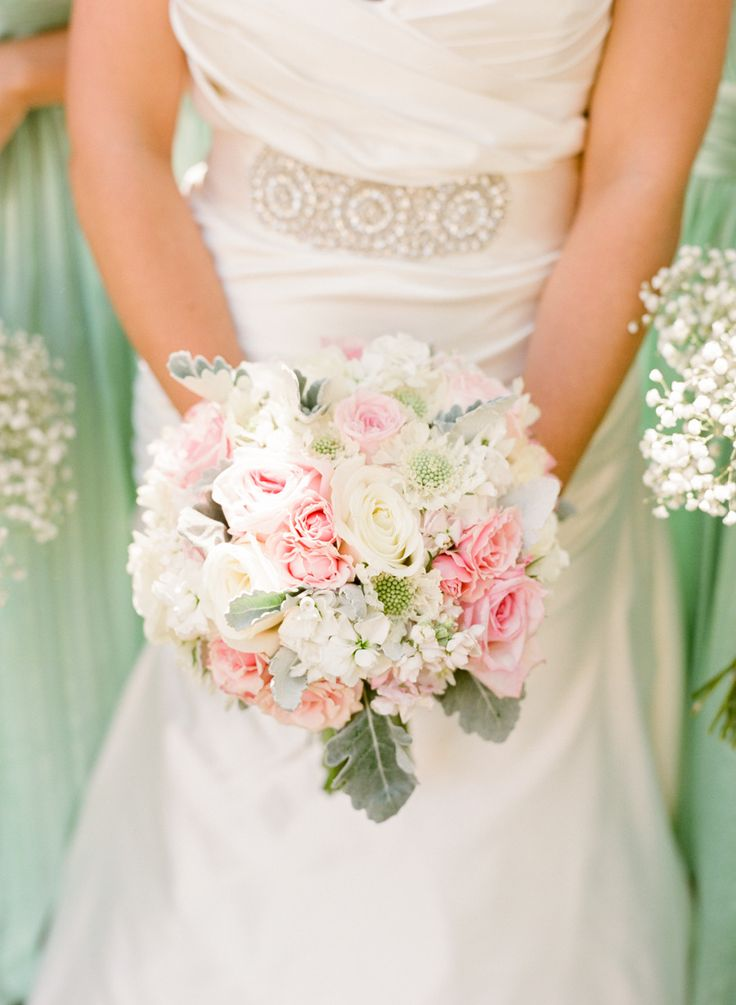 Mint and blush pink wedding - Photography: Michael  Anna Costa Photography ~ Anna Costa - michaelandannacosta.com  Read More: http://www.stylemepretty.com/little-black-book-blog/2014/07/03/romantic-mint-blush-vineyard-wedding/