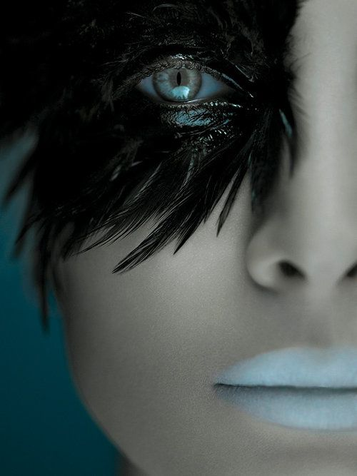 Raven eye makeup #halloween #makeup #sfx