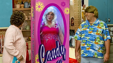 Mrs Brown's Boys ~ Buster as a Candy Doll, alias Barbie