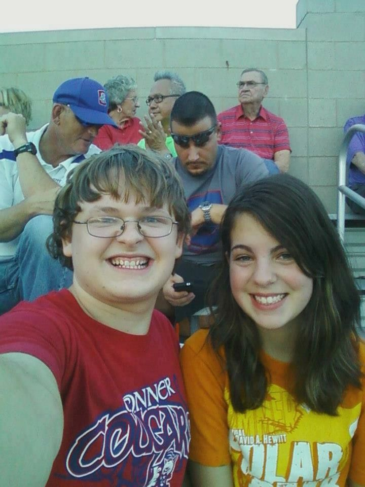 Me and Amanda Adams at the Dixie Heights game