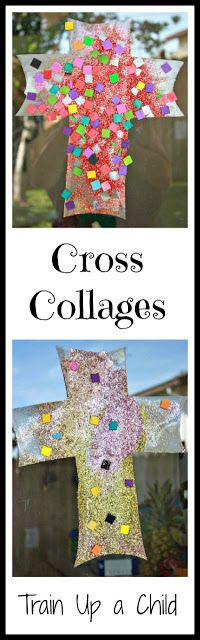 Cross Collages {Easter Craft for Kids}