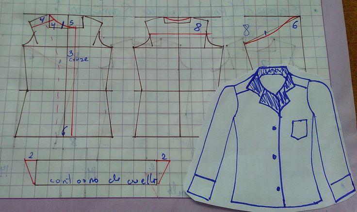Diseño de modas, segundo módulo: Patronaje de Camisas para hombre, Camisa Escolar