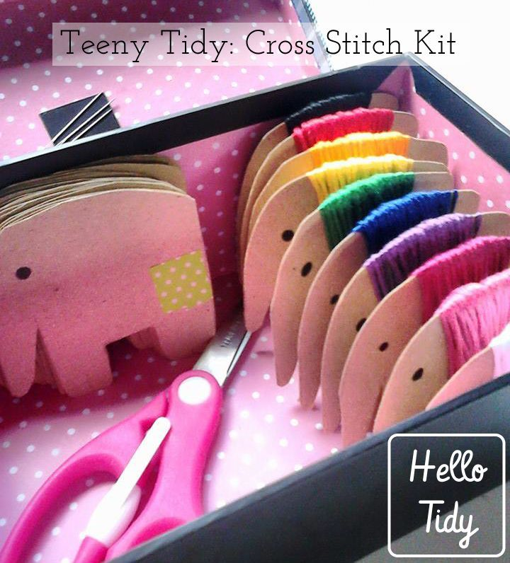 Why have regular floss bobbins when you can have elephant floss bobbins? Make your own animal floss holders to keep your cross stitch supplies organised