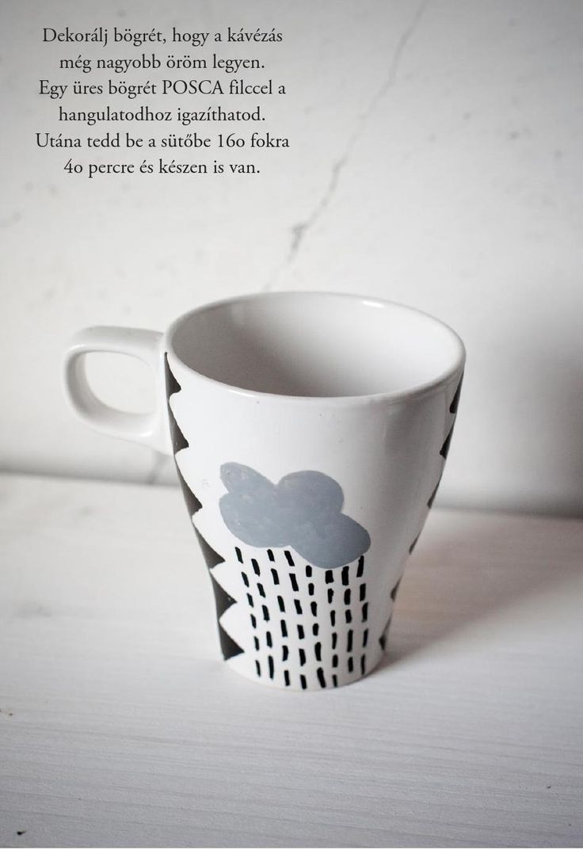 DIY mug decoration with POSCA from Pin magazin 2014 autumn - No. 9