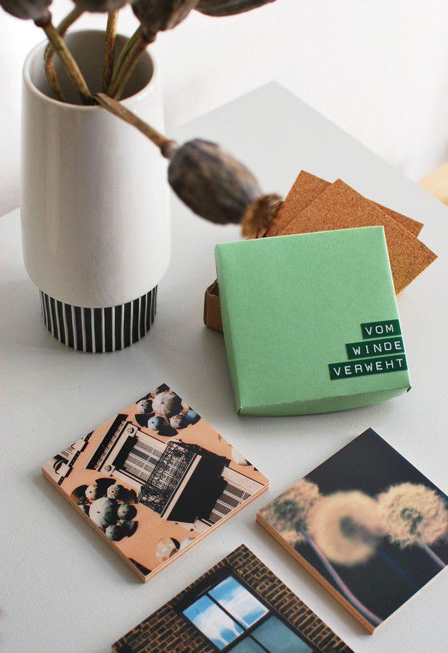 Transferdruck: Untersetzer aus  Holz mit aufgedruckten Fotografien / wooden coaster with printed photos, art and home decor made by Sorgfalt statt Einfalt via DaWanda.com