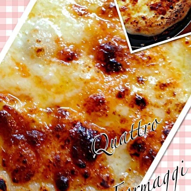 一度作りたかったクアトロフロマージュ。チーズ高いからなんちゃってクアトロだが、旨ーい!これにハチミツちょいとつけてたまりませんよ〜ガスレンジ新しくなり初グリルもうピザは自家製キョシュンさんから教えてもらいのこの生地は簡単ですよ - 146件のもぐもぐ - ゴルゴンゾーラ抜きでクアトロフロマージュのピザ by Koro2