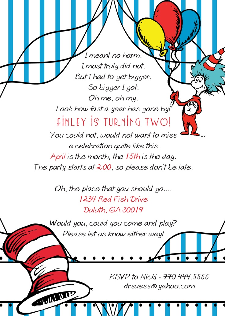122 best DR SEUSS PARTY IDEAS images on Pinterest | Birthday ...