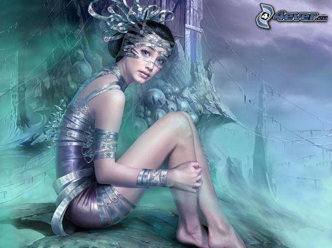 anime dievča, fantasy
