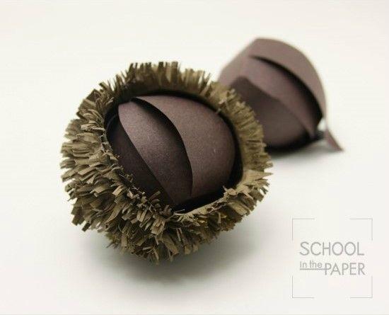 papercraft food / chestnut_SCHOOLinthepaper style  http://blog.naver.com/story_5/130146536961