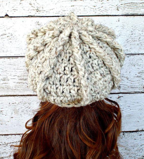 Crema de ganchillo sombrero mujer sombrero vendedor de