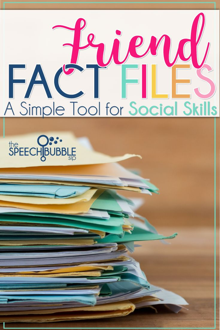 Let's face it working on social skills is tough. We are trying to help our students understand and learn these abstract and ever changing concepts. One of the toughest areas to work on with students is conversational skills. This is where friend fact files come in handy!