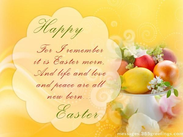 Best 20 Easter Wishes Messages ideas – Easter Greeting Card Messages