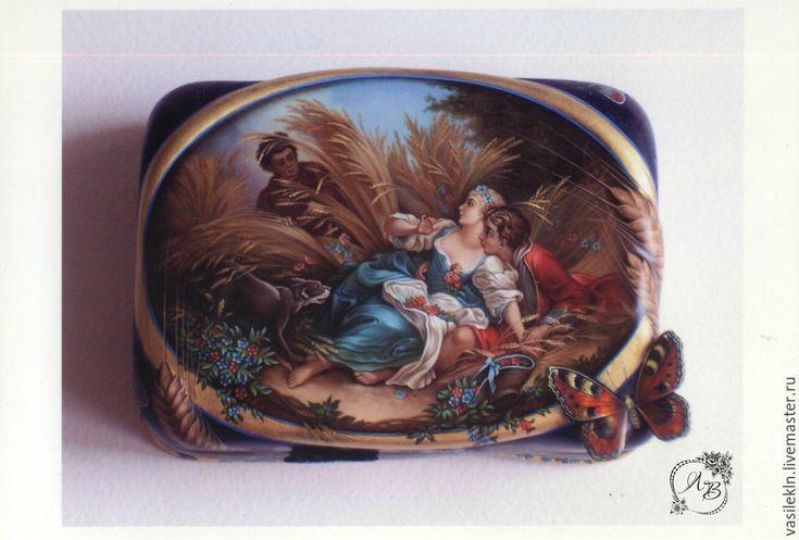 Купить Шкатулки Лаковая миниатюрная живопись 1 - разноцветный, шкатулки, яйцо пасхальное