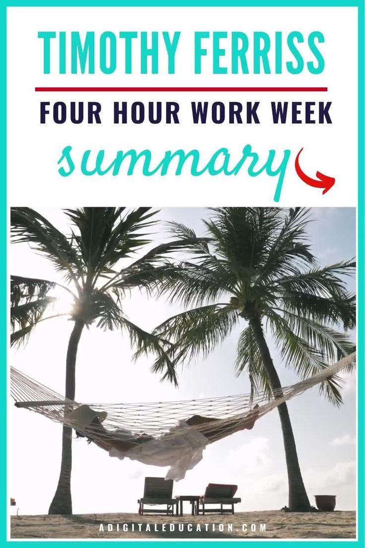 Self help book summary tim ferriss 4 hour work week