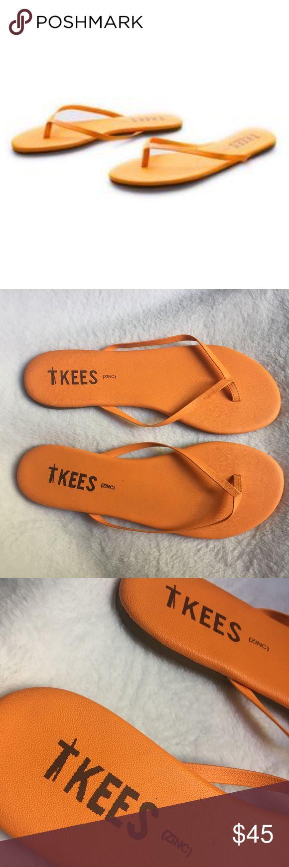 TKEES zinc orange flip flops 11 Wore one time, orange zinc color size 11. Excellent condition TKEES Shoes Sandals